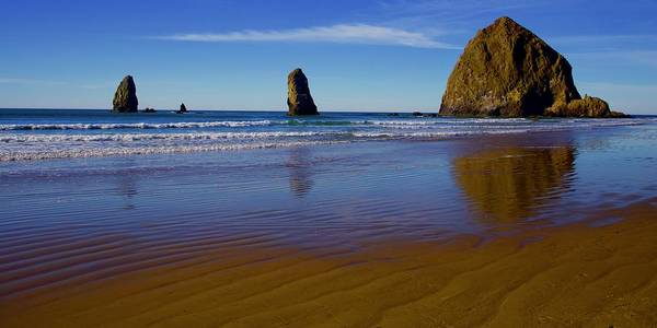 Photograph - Haystack Rock Panoramic by Todd Kreuter