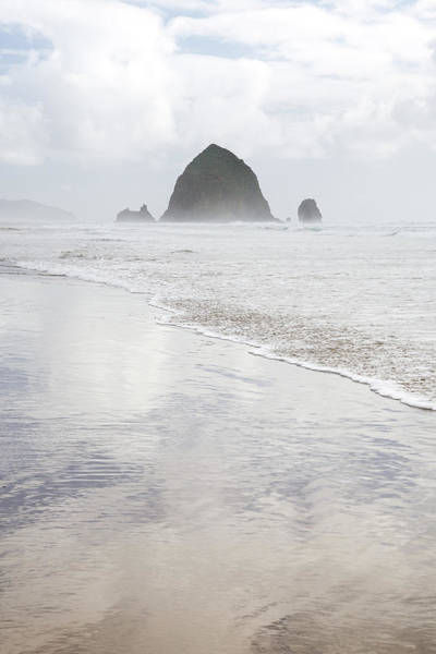 Photograph - Haystack Rock by Tim Newton