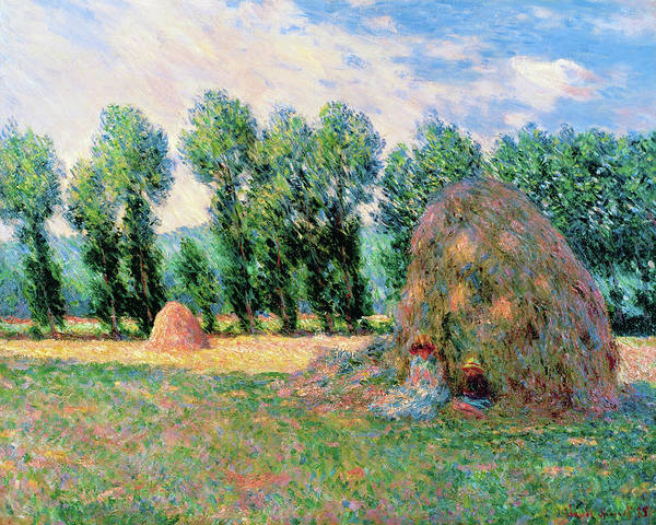 Barley Painting - Haystacks - Digital Remastered Edition by Claude Monet