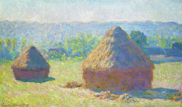 Barley Painting - Haystacks, End Of Summer - Digital Remastered Edition by Claude Monet