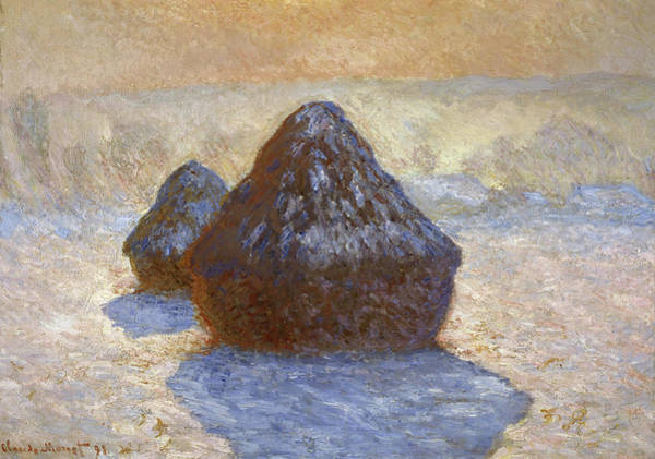 Wall Art - Painting - Haystacks, Snow Effect, 1891 by Claude Monet