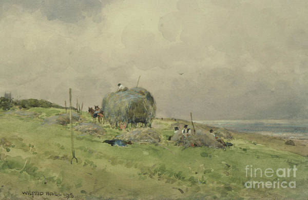 Wall Art - Painting - Haytime by Wilfrid Williams Ball