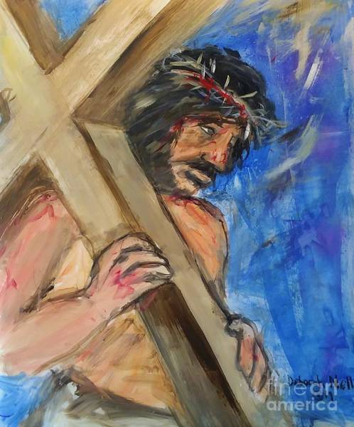 Painting - He Endured The Cross by Deborah Nell