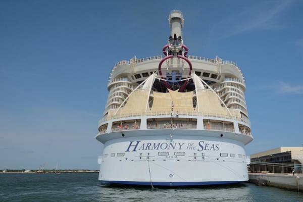 Photograph - Harmony Of The Seas At Port Canaveral by Bradford Martin