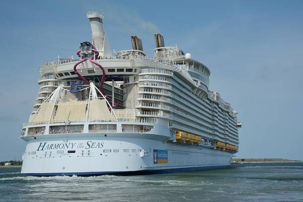 Photograph - The Harmony Of The Seas Underway by Bradford Martin
