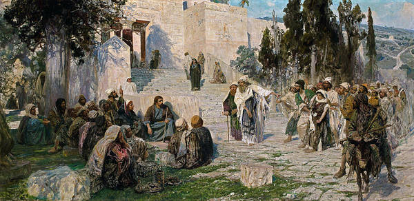 Wall Art - Painting - He That Is Without Sin, 1908 by Vasily Polenov