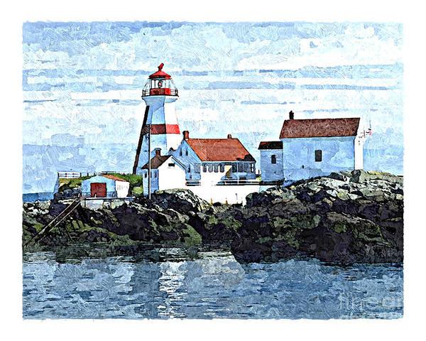 Digital Art - Head Harbour Lighthouse, Campobello, Nb by Art MacKay