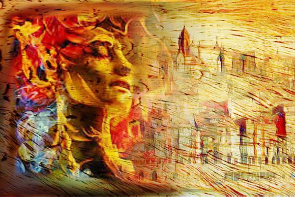 Lisbon Digital Art - Head In Fire - This Is Lisboa by Stoica Elena-Mihaela