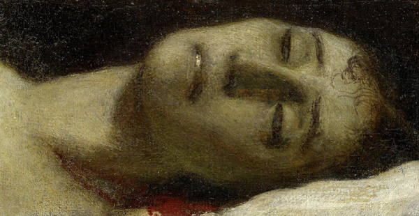 Wall Art - Painting - Head Of A Dead Girl by Arnold Bocklin
