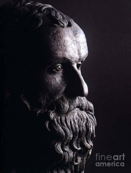 Wall Art - Sculpture - Head Of A Philosopher by Greek School