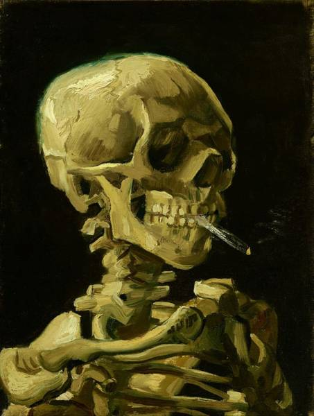 Wall Art - Painting - Head Of A Skeleton With A Burning Cigarette - Digital Remastered Edition by Vincent van Gogh