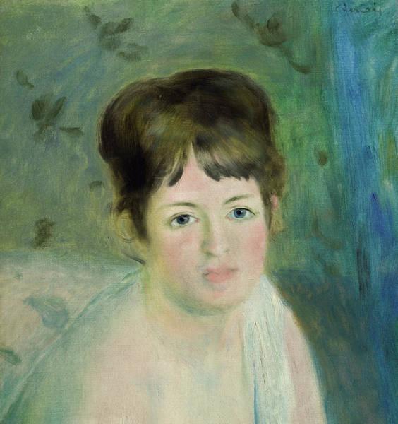 Wall Art - Painting - Head Of A Woman,1876 by Pierre-Auguste Renoir