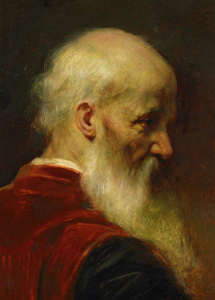 Wall Art - Painting - Head Of An Old Man by Jean-Leon Gerome