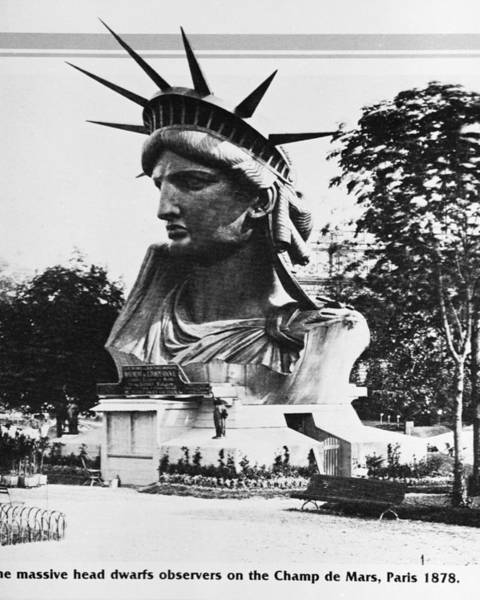 Wall Art - Photograph - Head Of Statue Of Liberty In France by Hulton Archive