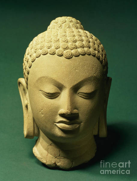 Wall Art - Sculpture - Head Of The Buddha, Sarnath by Indian School
