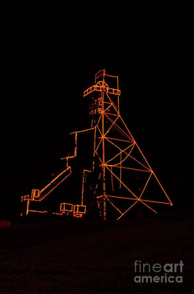 Photograph - Headframe Lit For The Holidays by Sue Smith