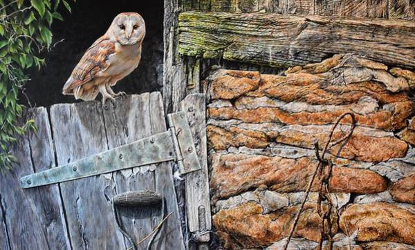 Painting - Heading Out For Dinner - Barn Owl By Alan M Hunt by Alan M Hunt