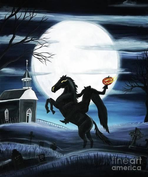 Zombie Cat Painting - Headless Horseman by Kilaarts By Kimberly