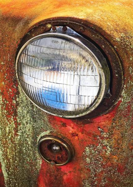 Wall Art - Photograph - Headlight by Jerry Abbott
