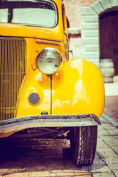 Vehicles Wall Art - Photograph - Headlight Lamp  Vintage Car - Vintage by Food Travel Stockforlife