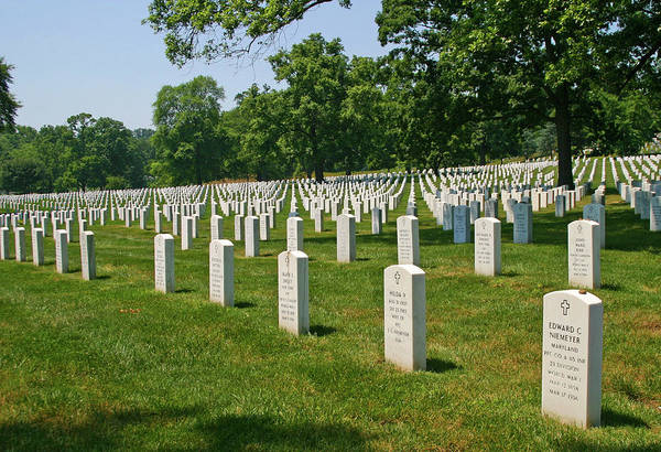 Photograph - Headstones At Arlington by Anthony Jones