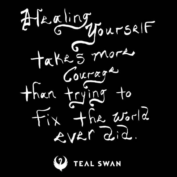 Painting - Healing Yourself Quote by Teal Eye Print Store