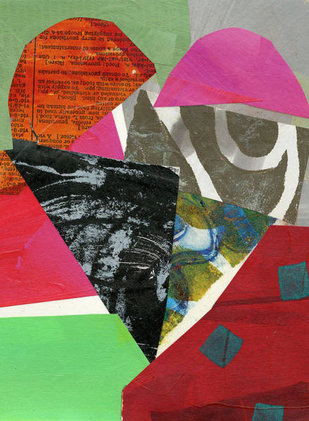 Acrylic Collage Painting - Heart #43 by Jane Davies