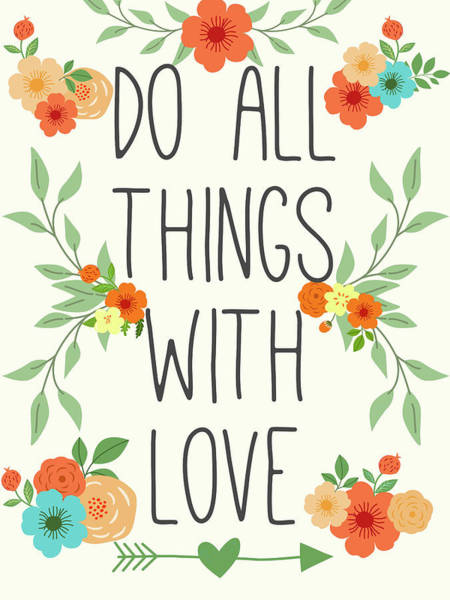 Wall Art - Digital Art - Heart And Love I by Sd Graphics Studio