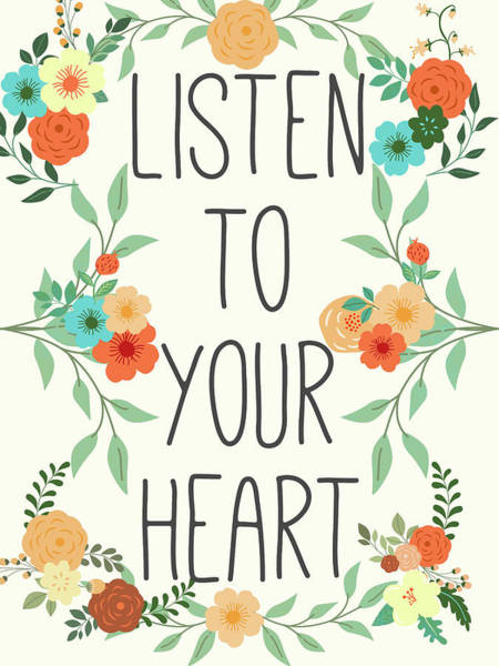 Wall Art - Digital Art - Heart And Love II by Sd Graphics Studio