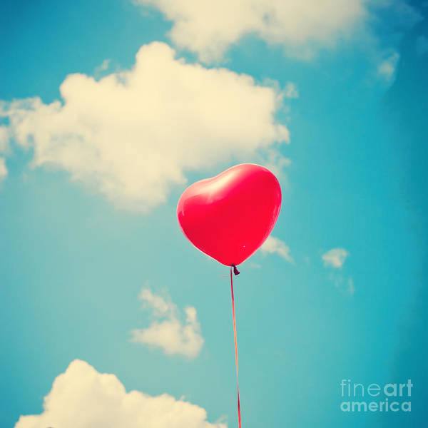Wall Art - Photograph - Heart Balloon by Andrekart Photography