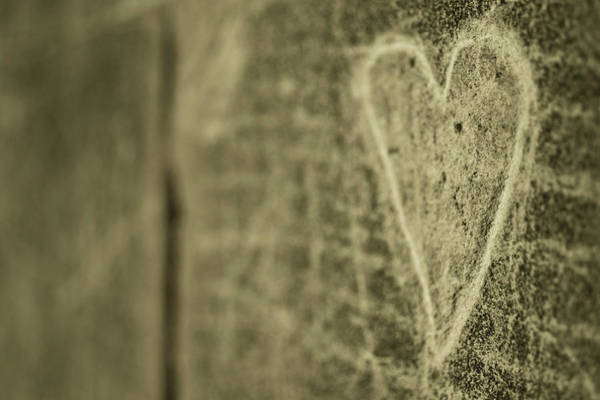 Wall Art - Photograph - Heart Engraved On A Wall by G.g.bruno