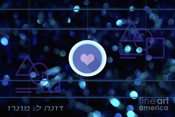 Digital Art - Heart Glitter by Donna L Munro