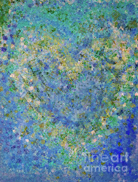 Painting - Heart In Blue Green And Yellow by Corinne Carroll