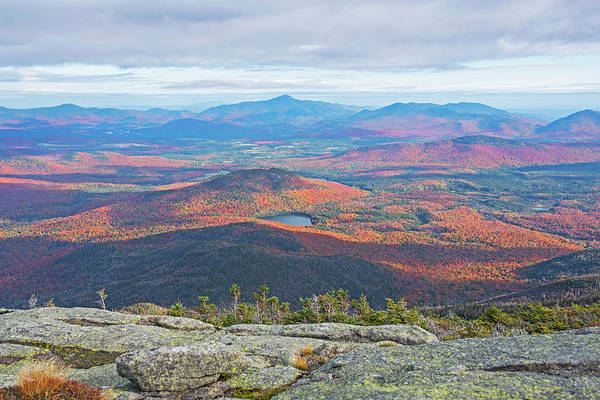 Photograph - Heart Lake And Whiteface Mountain As Seen From The Summit Of Wright Mountain Adirondacks by Toby McGuire