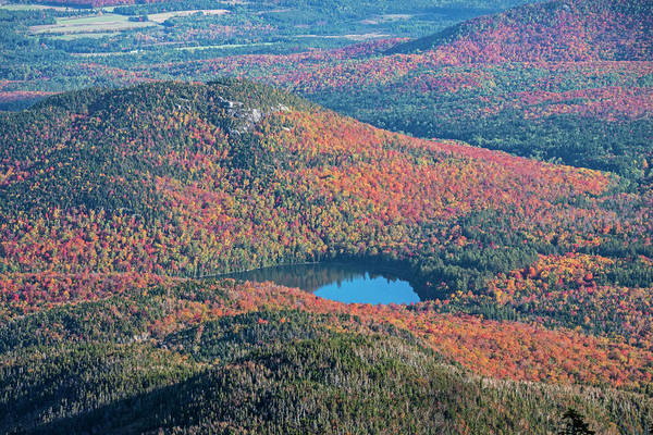 Photograph - Heart Lake Autumn Reflection Adirondacks Upstate New York North Elba by Toby McGuire
