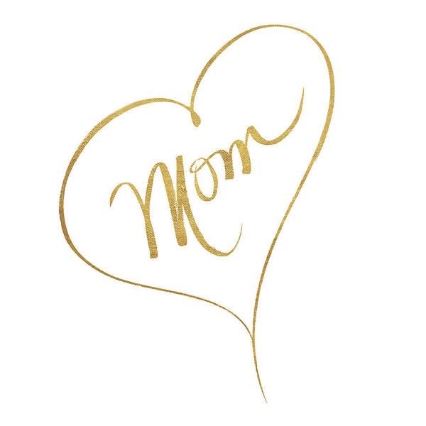Wall Art - Digital Art - Heart Mom by Sd Graphics Studio