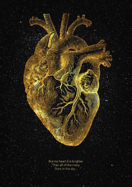 Wall Art - Digital Art - Heart Nebula by Zapista Zapista