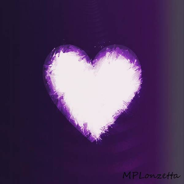 Painting - Heart Of Purple by Marian Palucci-Lonzetta