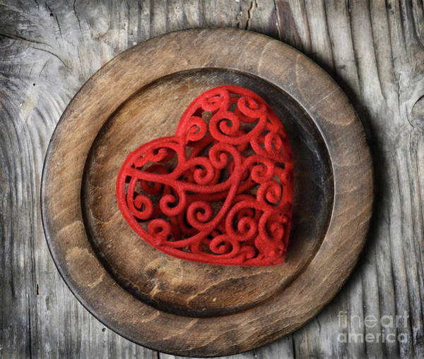 Wall Art - Photograph - Heart On Plate by Jelena Jovanovic