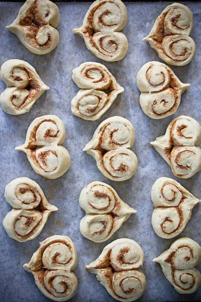 Cinnamon Buns Photograph - Heart Shaped Cinnamon Buns by Helena Schaeder Söderberg