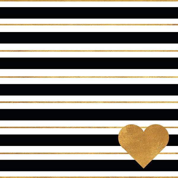Wall Art - Painting - Heart Stripes by Sd Graphics Studio