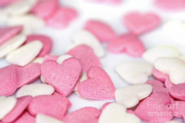 Wall Art - Photograph - Heart Sugar Candies by Delphimages Photo Creations