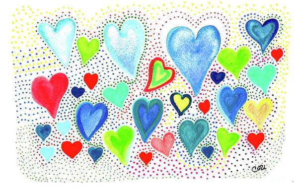 Hearts 1002 Art Print