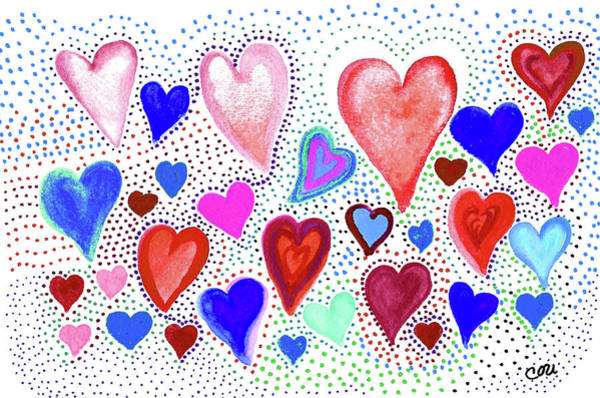 Painting - Hearts 1003 by Corinne Carroll