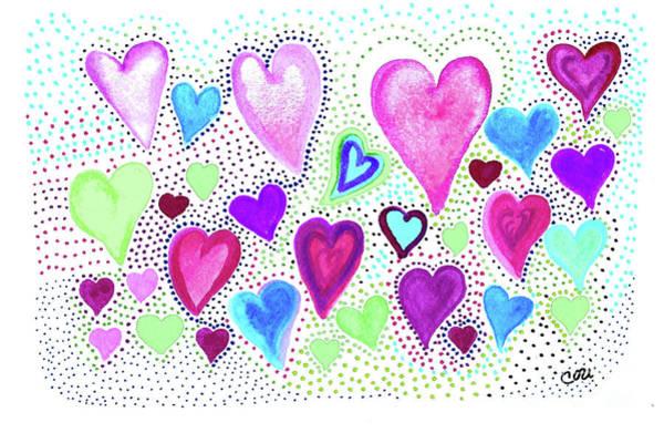 Hearts 1004 Art Print