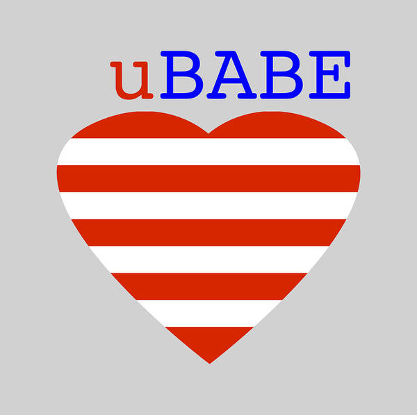Digital Art - Hearts And Stripes by Ubabe Style