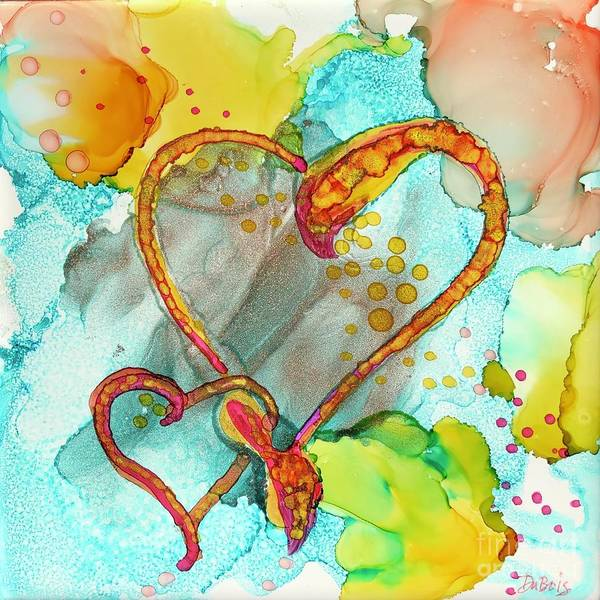 Painting - Hearts Entwined by Lisa DuBois
