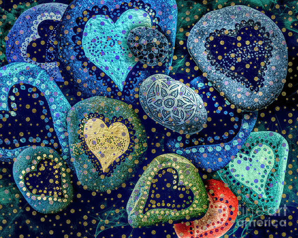 Digital Art - Hearts Of Stone 02 by Edmund Nagele