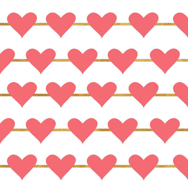 Wall Art - Digital Art - Hearts On Strings by Sd Graphics Studio