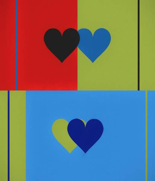 Mixed Media - Hearts Pop Art by Dan Sproul